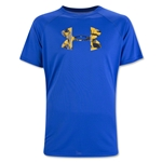 Under Armour Youth Tech Big Logo T-Shirt-Red (Royal Blue)