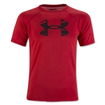 Under Armour Youth Tech Big Logo T-Shirt-Red (Red)