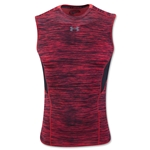 Under Armour HeatGear Coolswitch Compression Sleeveless T-Shirt (Red)