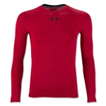 Under Armour Youth HeatGear Armour Fitted Shirt (Red)