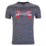 Under Armour Youth Big Logo Hybrid T-Shirt (Black)