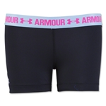 Under Armour HeatGear Armour Compression 3 Women's Solid Shorty (Black)