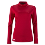 Under Armour ColdGear Women's Fitted Mock Top (Red)