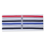 Under Armour Women's Mini Headband 6 pack (Red)