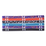 Under Armour Women's Sonar Static Mini Graphic Headband 6 Pack