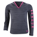 Under Armour Girls Tech Pullover Fleece (Black)