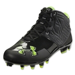 Under Armour Banshee Mid MC Cleats (Black/High Vis Yellow)