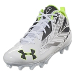 Under Armour Ripshot Mid MC Cleat (White/Charcoal)