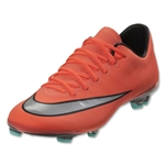 Nike Mercurial Vapor X FG Junior (Bright Mango/Metallic Silver)