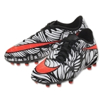 Nike Junior Hypervenom Phelon II NJR FG (Black/Bright Crimson)