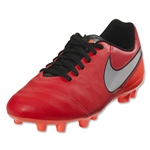 Nike Junior Tiempo Legend 6 FG (Lt Crimson/Metallic Silver)