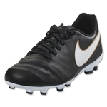 Nike Junior Tiempo Legend VI FG (Black/White)