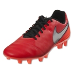 Nike Tiempo Genio II Leather FG (Lt Crimson/Metallic Silver)