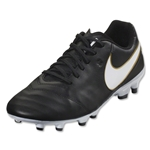 Nike Tiempo Genio II Leather IC (Black/White)