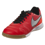 Nike Junior Tiempo Legend 6 IC (Lt Crimson/Metallic Silver)