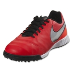 Nike Junior Tiempo Legend 6 TF (Lt Crimson/Metallic Silver)