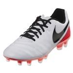 Nike Women's Tiempo Genio II Leather FG (White/Black)