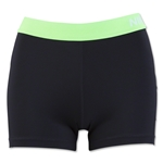Nike Women's Pro 3 Cool Short (Blk/Green)