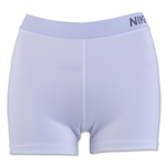 Nike Women's Pro 3 Cool Short (White/Gray)