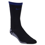 Nike Nikegrip Strike Cushioned Football Crew Sock (Black/Royal)