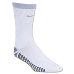 Nike Nikegrip Strike Cushioned Football Crew Sock (White/Gray)
