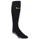 Nike Nikegrip Strike Cushioned Football OTC Sock (Black/Lime)