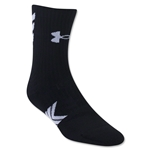 Under Armour Undeniable Mid Crew Sock (Black)