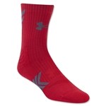 Under Armour Undeniable Mid Crew Sock (Red)