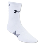 Under Armour Undeniable Mid Crew Sock (White)