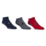 Under Armour HeatGear No Show 3 Pack (Red)