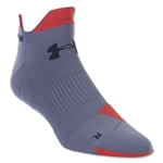 Under Armour Run Launch Double Tab No Show Sock (Gray)