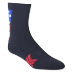 Under Armour Undeniable Youth Patriot Crew Sock (Black)