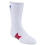 Under Armour Undeniable Youth Patriot Crew Sock (White)