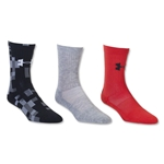 Under Armour Youth Refuse Defeat Crew Sock 3 Pack (Red)