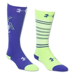 Under Armour Girls Like a Girl Knee High Sock (Lime)