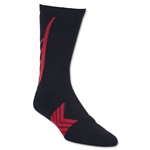 Under Armour Undeniable Crew Sock (Black/Red)