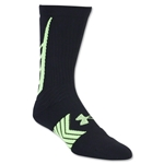 Under Armour Undeniable Crew Sock (Black/Yellow)