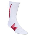 Under Armour Undeniable Crew Sock (White/Red)