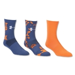 Under Armour Youth Can't Hold Me Back Sock 3 Pack (Orange)