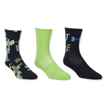 Under Armour Youth Built for Battle Crew Sock 3 Pack (Green)