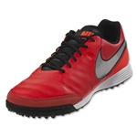 Nike Tiempo Genio II Leather TF (Lt Crimson/Metallic Silver)