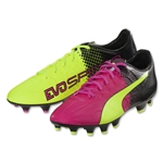 Puma evoSpeed 4.5 Tricks FG (Pink Glo/Safety Yellow)