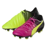Puma evoPower 4.3 Tricks FG Junior (Pink Glo/Safety Yellow)