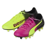 Puma evoSpeed 5.5 Tricks FG Junior (Pink Glo/Safety Yellow)