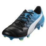 Puma evoPower 1.3 Leather FG (Black/White/Atomic Blue)