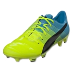 Puma evoPower 1.3 FG (Safety Yellow/Black/Atomic Blue)