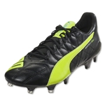 Puma evoSpeed SL Leather FG (Black/Safety Yellow)