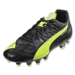 Puma evoSpeed 3.4 Leather FG (Black/Safety Yellow)