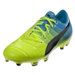 Puma evoPower 1.3 FG Junior (Safety Yellow/Black/Atomic Blue)