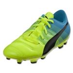 Puma evoPower 4.3 FG Junior (Safety Yellow/Black/Atomic Blue)